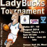 Wits Lady Bucks 2014 Tournament fixtures