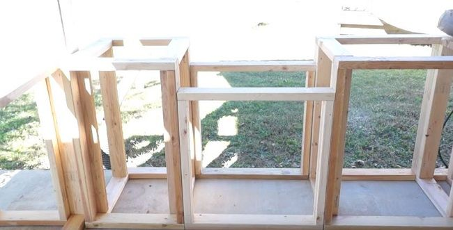 How to Build an Outdoor Kitchen with Wood Frame