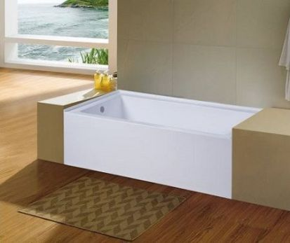 KINGSTON BRASS VTDE603122L 60-Inch Alcove Bathtub