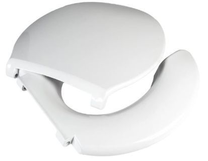Big John Toilet Seat 2445263-3W Open Front With Cover Bariatric Toilet Seat