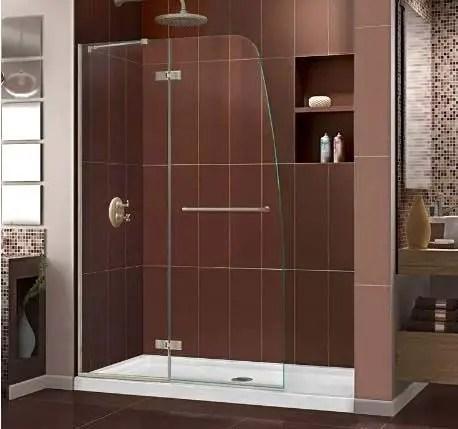Hinged Frameless Shower Doors