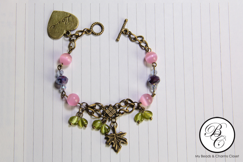 Berries Inspired Vintage Charm Bracelet #VS0010 (1/3)