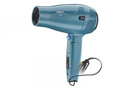 Hair dryer with retractable cord