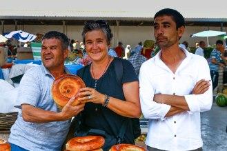 stolze Brotverkäufer