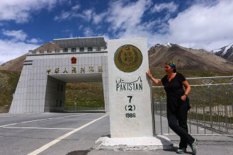 Pakistanische Grenze am Khunjerab Pass