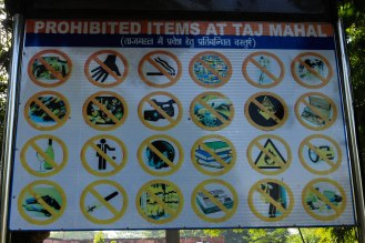 Sicherheit am Taj Mahal