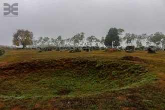 Bombenkrater in den Plain of Jars
