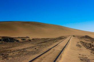Sand blockiert die Gleise