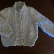 Tiny cardigan made for Grand-baby due later this year