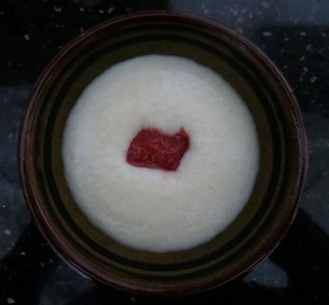 Semolina with a dollop of Strawberry Freezer jam