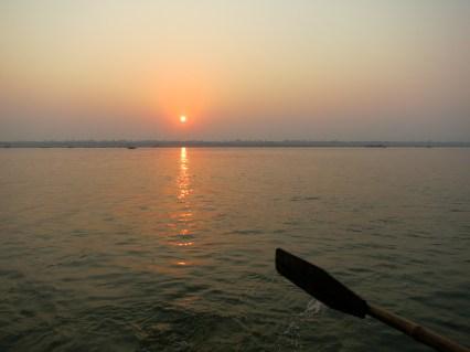 Sun-rise kissing the Ganges