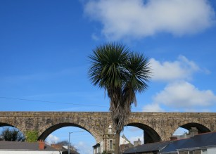 The viaduct that takes the line to Penzance and to London