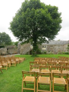 Before the Ceremony, which took place under the tree
