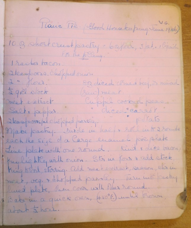 Original recipe from 1946