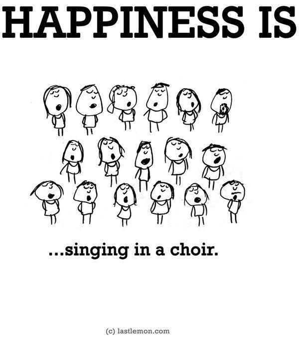 happiness is.....singing in a choir