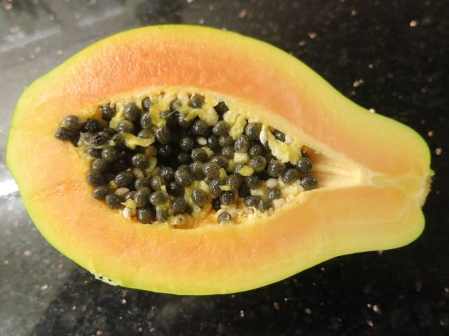 Inside a Papaya