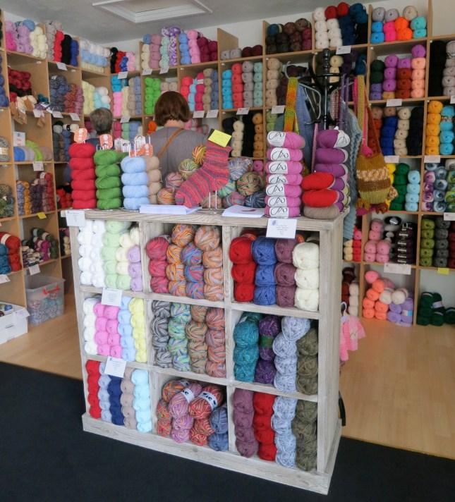 Inside the wool shop