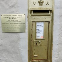 Golden postbox to honour Ben Ainslie, winner of an Olympic Gold medal