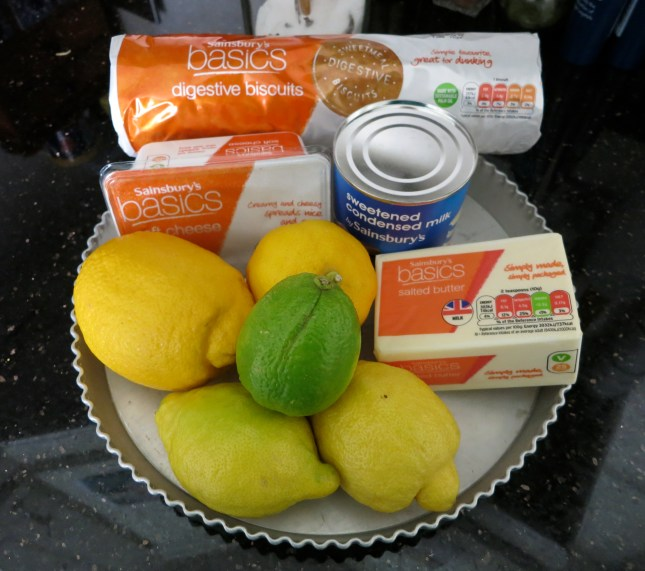 Ingredients and tin