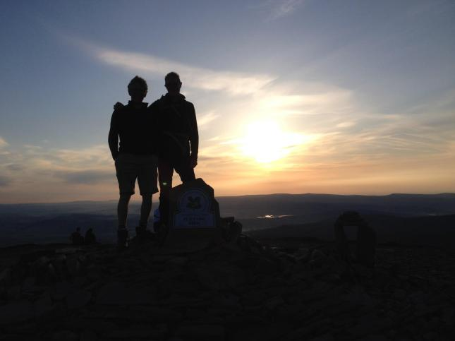 G and J on the Three Peaks Challenge done for Prostate Cancer Research