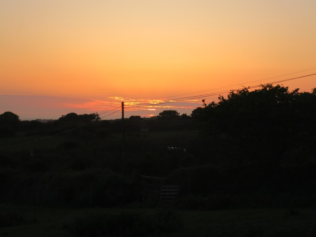 Sunset from the barn
