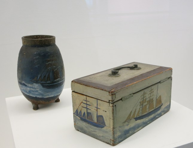 Painted box and jar