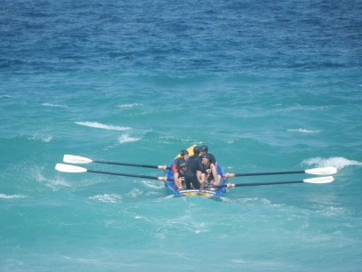 Rowing out