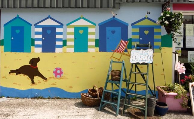 Summer mural on Just Delights