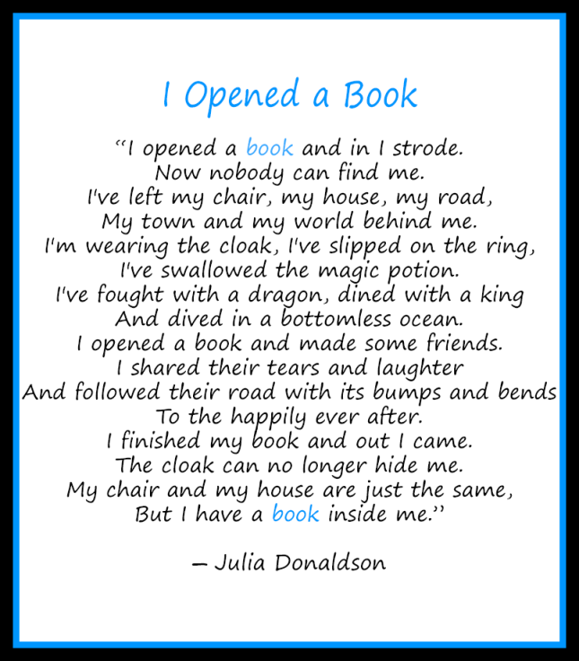 Julia Donaldson I Opened a Book