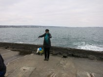 Being conducted by the sea