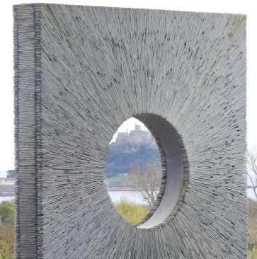 The Mount through a sculpture