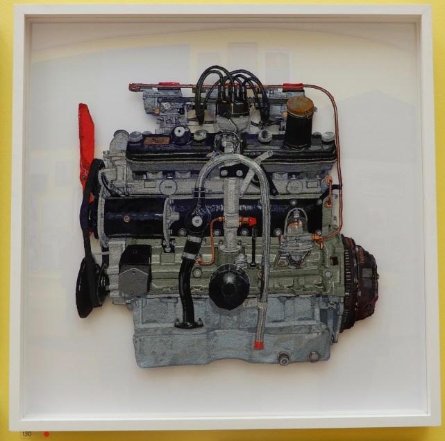 Bristol 2 litre engine, free machine embroidery Julie Heaton
