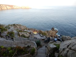 On our way to our seats at The Minack