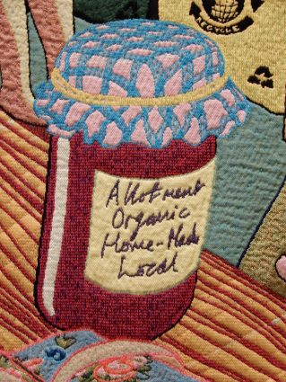 Detail from one of Grayson Perry's tapestries, more tomorrow