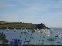 July 2012 - From St Mawes looking over the water to the St Anthony Lighthouse. The annual regatta was in full sail.
