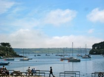 August 2012- Looking out to Restronguet Creek from the pontoon of The Pandora Inn.