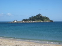 June 2012 - St Michael's Mount from Mount's Bay. The best ice creams in the worls can be found in the tea-shop here!