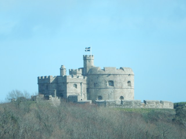 St Piran's flag on Pendennis Castle, Falmouth