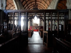 The rood screen from the altar