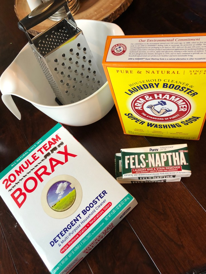 Borax, Fels Naptha and Washing Soda