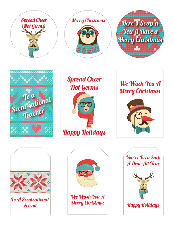 Printable Soap Christmas Gift Tags