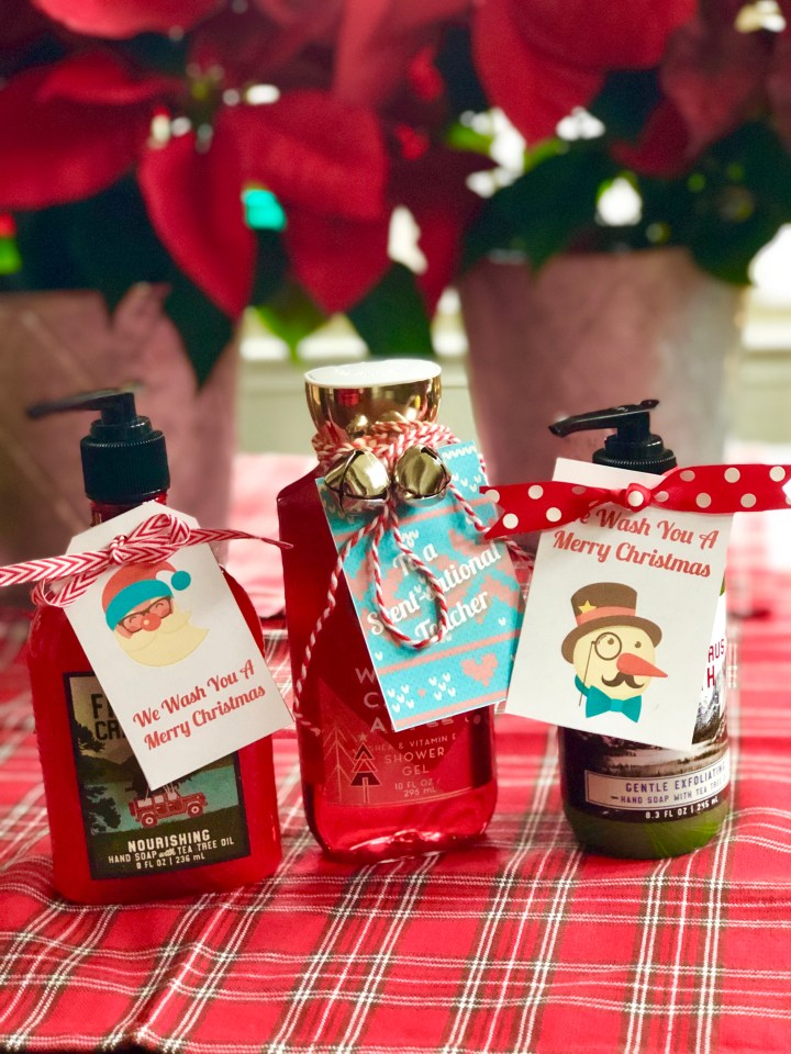 Soap Christmas Gift Tags for Teachers & Neighbors