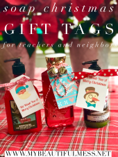 soap gift tags for teachers and neighbors