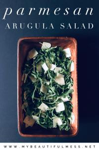Parmesan arugula salad
