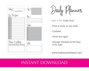Daily Planner Minimal