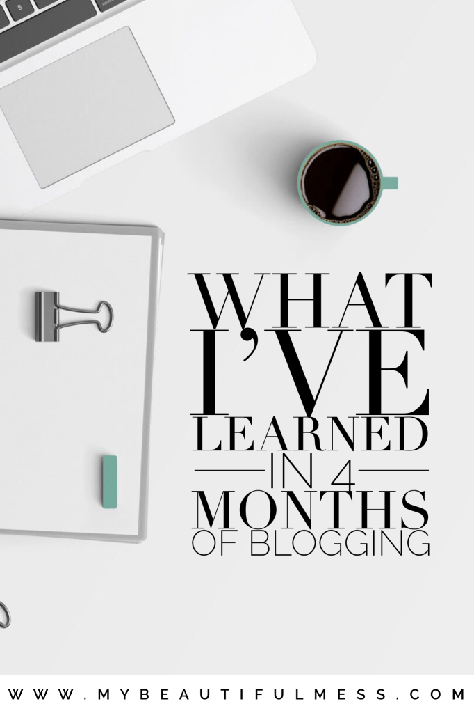 What I've learned in 4 months of blogging
