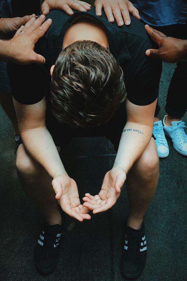 praying over him