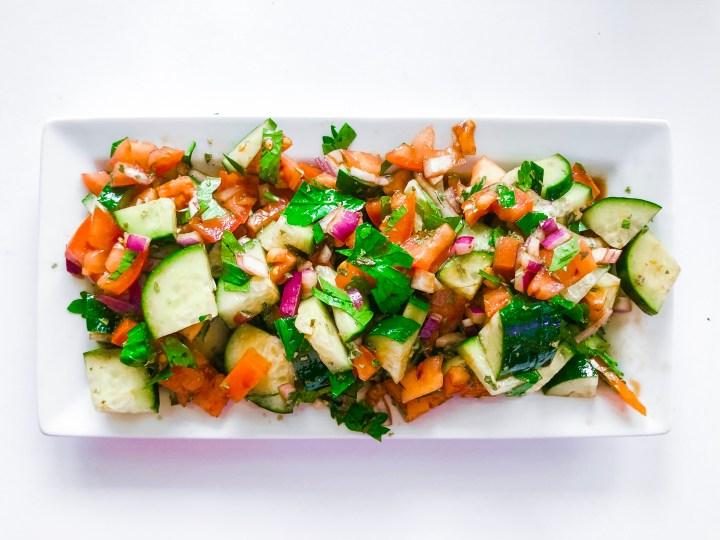 Tomato and cucumber salad
