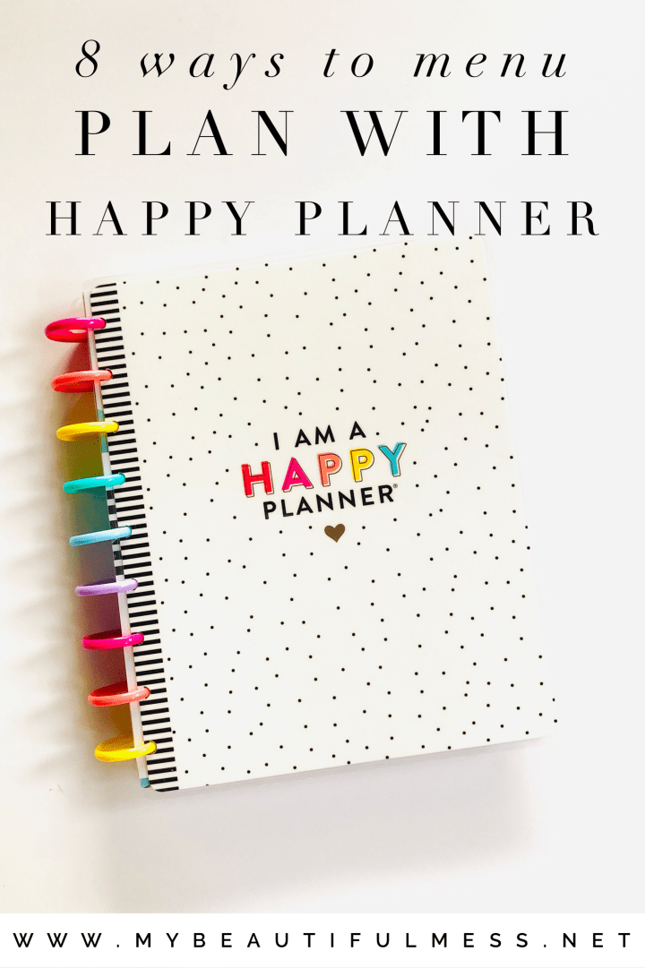8 Ways To Menu Plan With Happy Planner