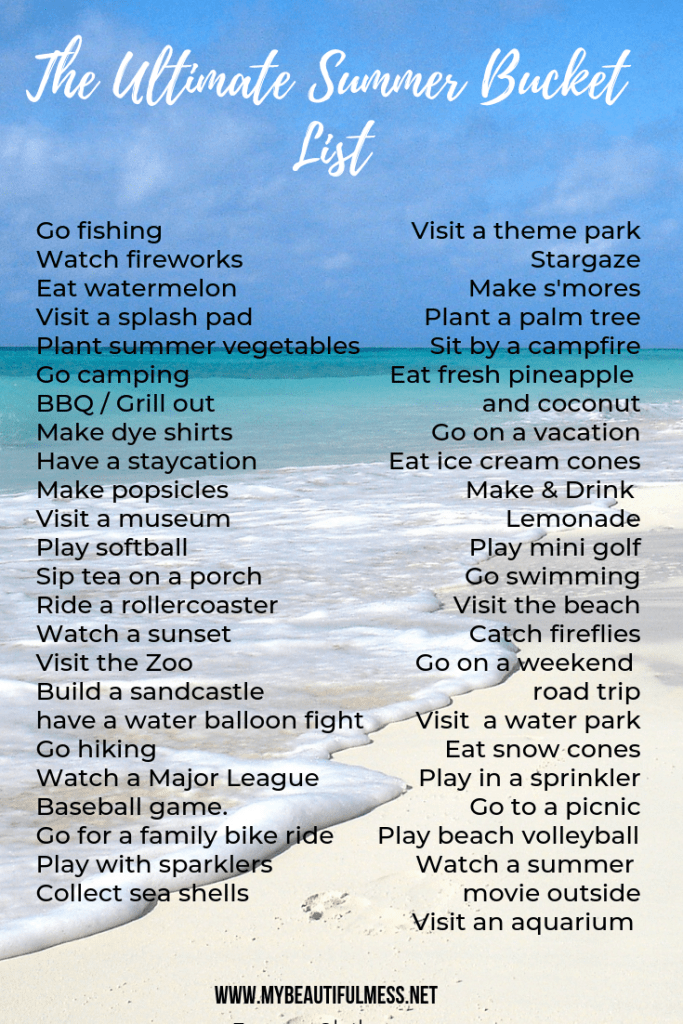 The Ultimate Summer Bucket List